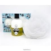 Набор мочалка и пенка-масло для душа (Желтый) Village 11 Factory Relax-day Body Oil Wash Set Yellow 300ml
