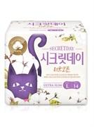 Ультратонкие дышащие органические прокладки Secret Day Love Recipe 14 шт. / 28 см
