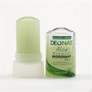 Дезодорант минеральный Кристалл ДеоНат с соком АЛОЭ стик 60 гр зеленый