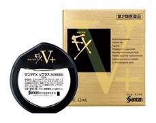Витаминизированные капли для глаз (витамин B6 и таурин) от усталости глаз Santen Pharmaceutical Sante FX V Plus