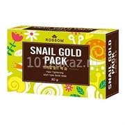 Мыло туалетное твердое MKH Rossom для ухода за лицом со слизью улитки «Snail Gold Pack» 85гр