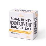 Мыло туал. твердое MKH «Mukunghwa» из 100% масла кокоса с мат.  молоком и мёдом 100 гр
