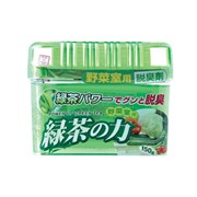 Дезодорант-поглотитель неприятных запахов для холодильника KOKUBO Deodorant POWER OF GREEN TEA с экстрактом зелёного чая (овощная камера) 150 г