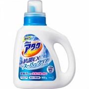 Высококонцентрированный гель для стирки белья с антибактериальным эффектом KAO Attack EX Super Clear 900g бутылка