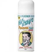 """Пена для бритья экстракт гамамелиса с лечебным эффектом Feather  """"HiShave"""" 260гр"""