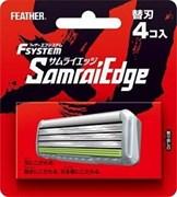 Запасные кассеты с тройным лезвием для станка Feather F-System «Samurai Edge» в комплекте 8 шт.