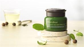 Интенсивный питательный крем для лица с зелёным чаем Innisfree The Green Tea Seed Deep Cream 50ml