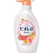 """Нежный гель для душа с ароматом персика Kao """"Biore U"""" 480 мл"""
