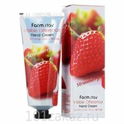 Крем для рук с клубникой Farmstay visible differerce hand cream strawberry 100гр