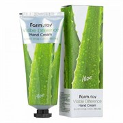 Крем для рук с алоэ Farmstay visible differerce hand cream aloe 100гр