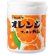 Жевательная резинка Marukawa Orange Marble gum bottle 130g