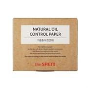 Матирующие салфетки The Saem Natural Oil Control Paper