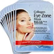 Коллагеновая маска-патчи для кожи вокруг глаз PUREDERM Collagen EYE zone mask 30 штук (15 пар)