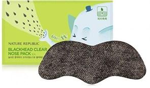 Полоска очищения пор носа Nature Republic Blackhead Clear Nose Pack