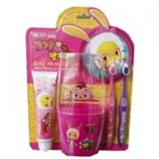 Набор детский Pororo Set (зубная паста, стаканчик, зубная щетка 2 шт)
