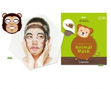 Тканевая маска для лица c муцином улитки Berrisom Animal Mask Monkey (Snail)