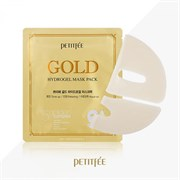 Маска для лица гидрогелевая c ЗОЛОТОМ Petitfee Gold Hydrogel Mask Pack