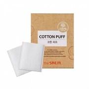 Спонжи косметические из 100% хлопка The Saem Cotton Puff 20шт